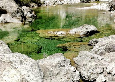 Pozze smeraldine a Tramonti di sopra