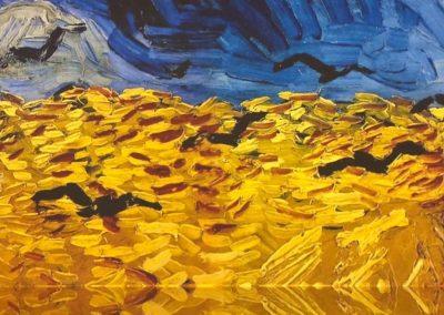 mostra immersiva Van Gogh quadro campo di grano