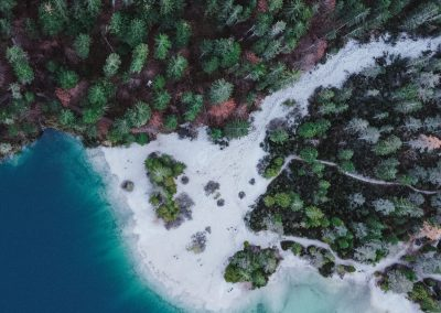 Lago del Trentino visto con il drone