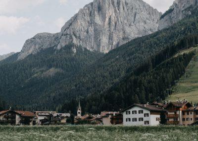Panorama con Dolomiti Trentino