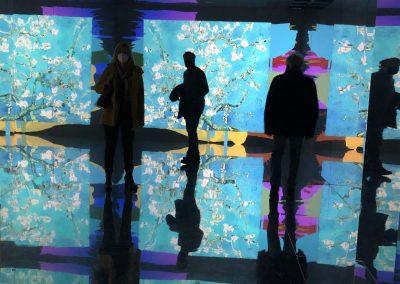 sala degli specchi mostra Van Gogh